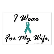 Wear Teal For My Wife 1 Postcards (Package of 8)