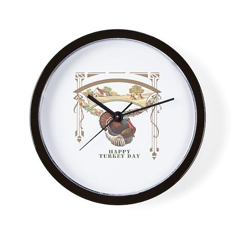 Turkey Day Wall Clock