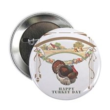 "Turkey Day 2.25"" Button (10 pack)"