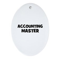 accounting Master Oval Ornament
