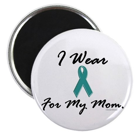 """Wear Teal For My Mom 1 2.25"""" Magnet (100 pack)"""