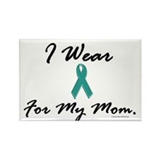 Wear Teal For My Mom 1 Rectangle Magnet