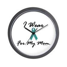 Wear Teal For My Mom 1 Wall Clock