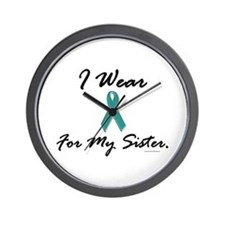 Wear Teal For My Sister 1 Wall Clock