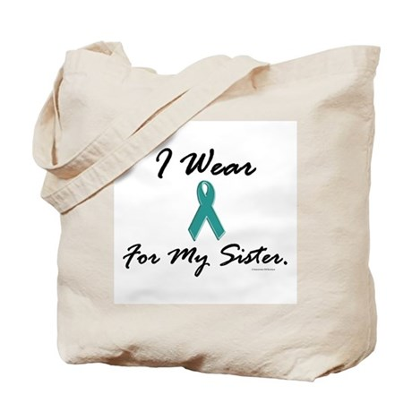 Wear Teal For My Sister 1 Tote Bag