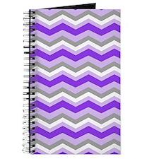 purple gray chevron Journal