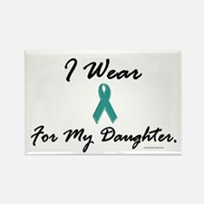 Wear Teal For My Daughter 1 Rectangle Magnet