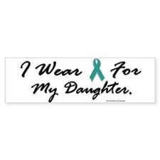 Wear Teal For My Daughter 1 Bumper Car Sticker