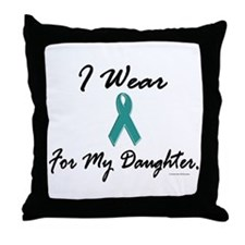 Wear Teal For My Daughter 1 Throw Pillow