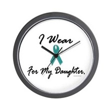 Wear Teal For My Daughter 1 Wall Clock