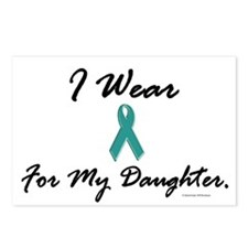 Wear Teal For My Daughter 1 Postcards (Package of