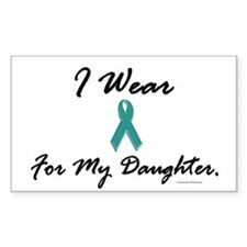 Wear Teal For My Daughter 1 Rectangle Decal