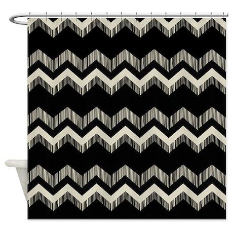 Gray Black Chevron Shower Curtain By ADMIN CP62325139