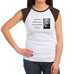 Ralph Waldo Emerson 31 Women's Cap Sleeve T-Shirt