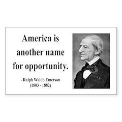 Ralph Waldo Emerson 31 Rectangle Decal