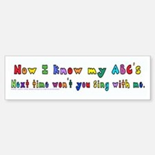 Alphabet Song Bumper Bumper Sticker
