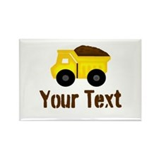 Personalizable Dump Truck Brown Magnets