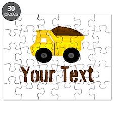 Personalizable Dump Truck Brown Puzzle