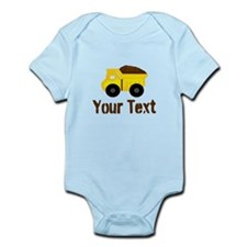 Personalizable Dump Truck Brown Body Suit