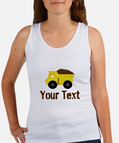 Personalizable Dump Truck Brown Tank Top