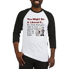 Liberal Free Speech Baseball Jersey