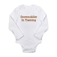 Cute Snowmobile baby Long Sleeve Infant Bodysuit