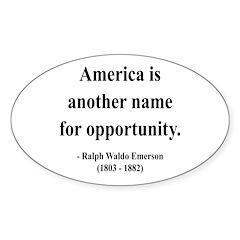 Ralph Waldo Emerson 31 Oval Decal