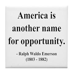 Ralph Waldo Emerson 31 Tile Coaster