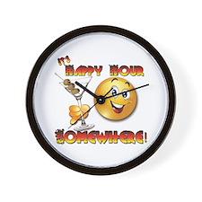 Happy Hour-Design 1b Wall Clock