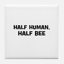 half human, half bee Tile Coaster