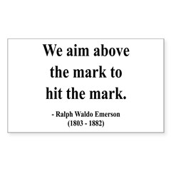 Ralph Waldo Emerson 32 Rectangle Decal