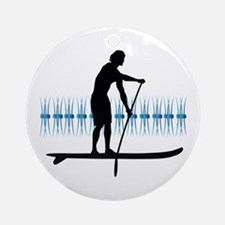 Paddleboarder Ornament (Round)