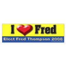 I Love Fred Bumper Bumper Sticker