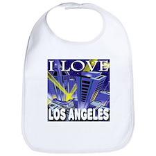 I Love Los Angeles Metropolis Bib