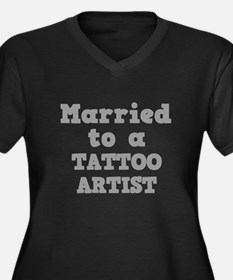 Married to a Tattoo Artist Women's Plus Size V-Nec