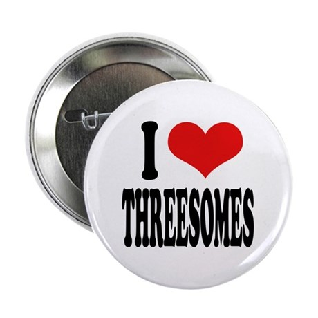 """I Love Threesomes 2.25"""" Button (10 pack)"""