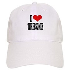 I Love Threesomes Baseball Cap