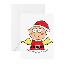 Santa's Little Angel Greeting Cards (Pk of 10)