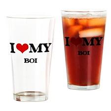 I Love My BOI Drinking Glass
