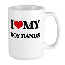 I Love My BOY BANDS Mugs