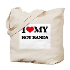 I Love My BOY BANDS Tote Bag