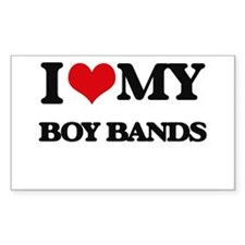 I Love My BOY BANDS Decal