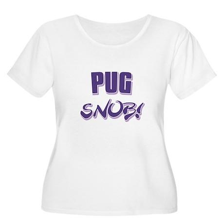 Pug Snob! Women's Plus Size Scoop Neck T-Shirt