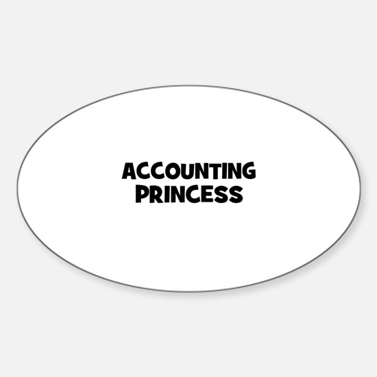 accounting Princess Oval Decal