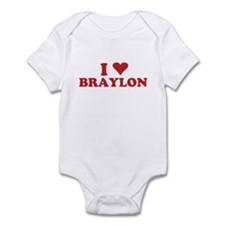 I LOVE BRAYLON Infant Bodysuit