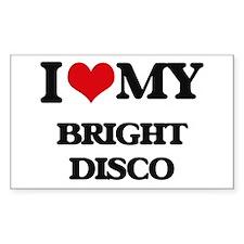 I Love My BRIGHT DISCO Decal