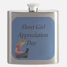 Short Girl Appreciation Day 3x Flask