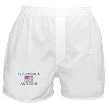 America Anti-Bush Boxer Shorts