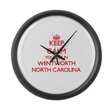 Keep calm you live in Wentworth N Large Wall Clock