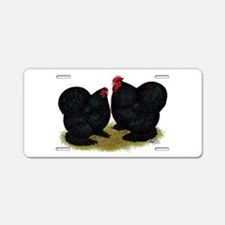 Cochins Black Bantams Aluminum License Plate